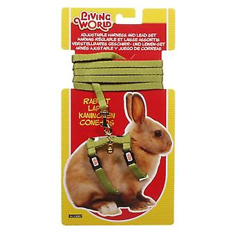 Living World L.W. HARNESS IN GREEN FOR RABBITS (Small pets , Leads & Harnesses)