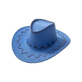 Western Cowboy Hat Nők - Gyerekek Fedora Kültéri Széles Karimájú Sapka
