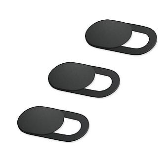 3 Pack Webcam Cover Ultradunne Slide Privacy Protector Camera Cover (zwart)