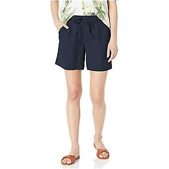 "Brand - 28 Palms Women's 6"" Inseam Linen Short with Drawstring"