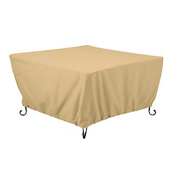 """Classic Accessories Terrazzo 42"""" Square Fire Pit Table Cover - All Weather Protection Outdoor Cover (55-824-022001-Ec)"""