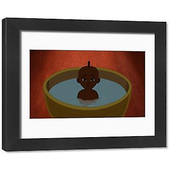 ミシェル・オセロット・キリコウ・エ・ラ・ソルシエール(1998)のアニメーション・セル。フレーム付き写真。からアニメーションセル.