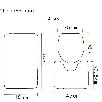 3PC Toilette Matte Fisch Skala Muster