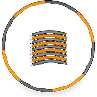 Orange /grey 1kg Weighted Collapsible Hula Hoop Padded Abs Exercise Gym Workout