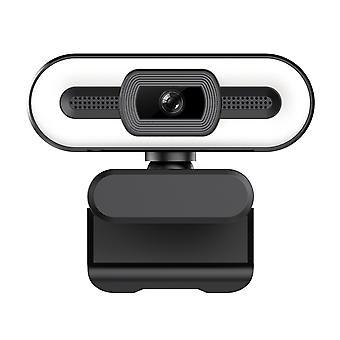 2K prise usb et jouer webcam avec intégré dans la lumière du microphone