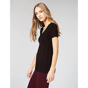 Brand - Daily Ritual Women's Jersey Short-Sleeve V-Neck T-Shirt, Black...