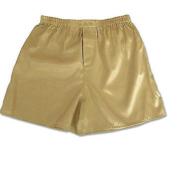Silk Satin Miesten Sleep Boxer Bottoms Pajama, Lounge Shortsit