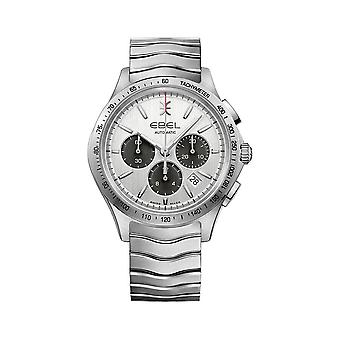 Ebel Wave Chronograph Automatic Silver Dial Men's Watch 1216403