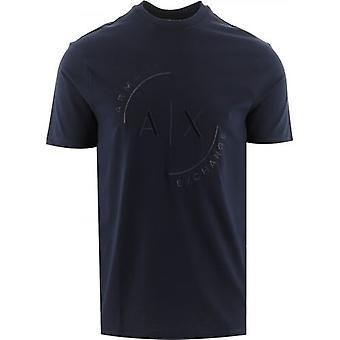 Armani Exchange Navy Regular Fit T-Shirt