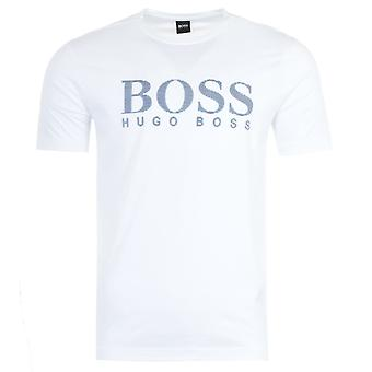 BOSS Stripe Large Logo T-shirt - White