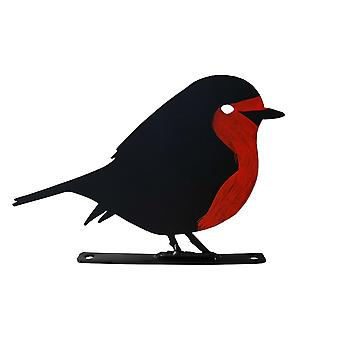Primus Small 11cm Robin Garden Silhouette With Fixing Plate