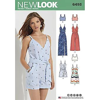 新しい外観縫製パターン6493ミスドレスジャンプスーツサイズ6-18ユーロ32-44