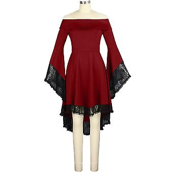 Chic Star Semi Off Shoulder Dress Top en Borgoña