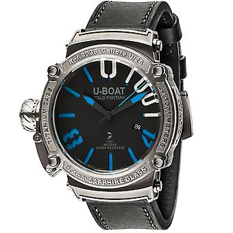 U-Boat 8038 Classico 1001 Ss Limited Edition Mens Automatisk Titanium & Rubber Dive Watch