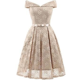 Birthday Party Dress For, V Collar Lace Mother & Daughter Dresses
