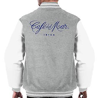 Cafe del Mar Classic Blue Logo Men's Varsity Jacket