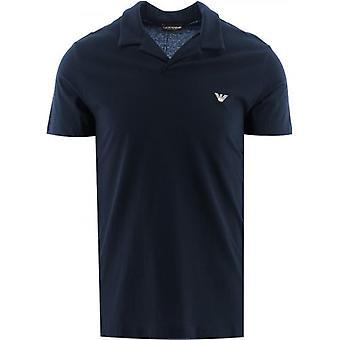 Emporio Armani Loungewear Navy Short Sleeve Polo Shirt
