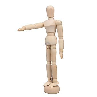 Mini manequim humano de madeira Unisex 5,5 polegadas de altura produtos de escritório em casa