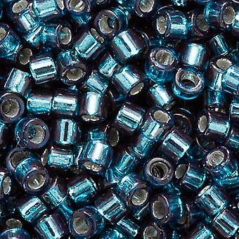Miyuki Delica Seed Beads, Tamaño 10/0, 8 Gramos, Silver Lined Blue Zircon DBM0608