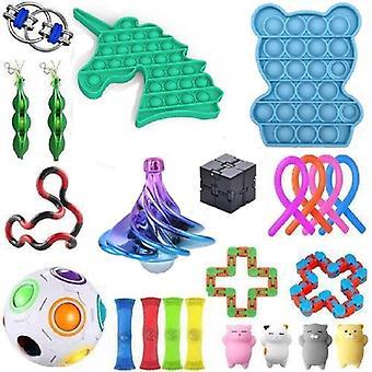 23pcs Pack Fidget Toys Sensory Toy Set Antistress Relief Fidget Toys