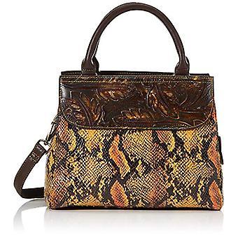 Laura Vita 3772, Women's Handle Bag, Light Brown, Medium