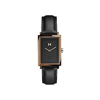 MVMT analog Quartz Watch Mujer con correa de piel de becerro D-MF03-RGBL