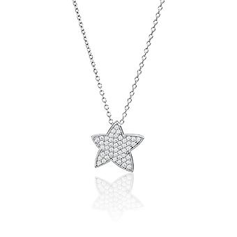 Eye Candy ECJ-NL0094 - Women's necklace in sterling silver 925 rhodium, with 50 white zircons, 45 cm