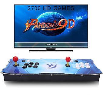 FengChun Pandora es 9D Home Arcade Konsole Video Spiel-Konsole, 2700 in 1 Joystick Spielkonsole, 4