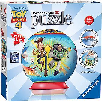 FengChun – Puzzle 3D rund 72 Teile Spielzeug Geschichte 4 Pixar Kinder, 4005556118472