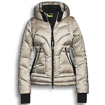 Creenstone Beige Oatmeal Padded Puffer Style Jacket With Detachable Hood