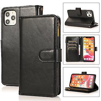 Flip folio leather case for iphone 7plus/8plus black pns-3592