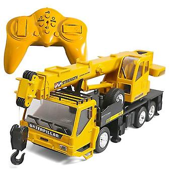 1:24 8CH Simulation Crane Excavator engineering Chargeable RC Vehicles Car Toy|RC Trucks(Khaki)
