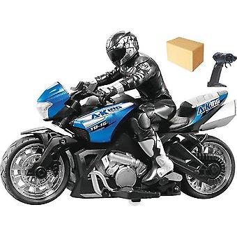 Remote Control Stunt Motorbike 360 degree Rotation drift Car Racing Motorcycle Toy model(Blue)