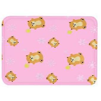Medium rosa sommer katt mat matte er bite resistantdog kennel ismatte x488