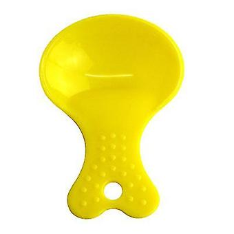 2Pcs yellow environmental friendly and durable plastic pet dog & cat food scoop az18936