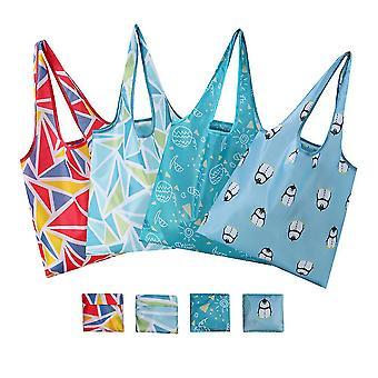 Uusi käsilaukku taitettava polyesteri kotitalous canvas ostoskassi ES9205