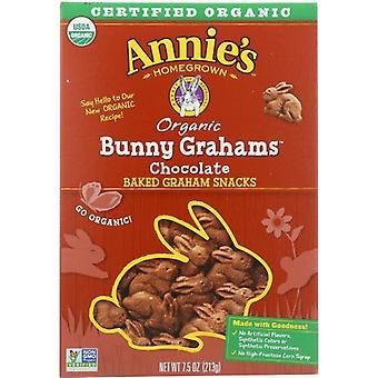 Annie's Homegrown Cookie Bunny Graham Choc, Case of 12 X 7.5 Oz