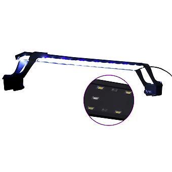 vidaXL LED-Aquariumleuchte mit Klemmen 55-70 cm Blau und Weiß