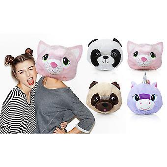 ¡Dios! Diseños 13 pulgadas suave cabeza grande máscara animal - unicornio
