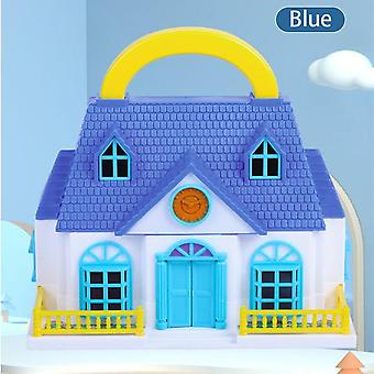 Connection folding dollhouse villa plastic diy dollhouses play house furniture assembled doll house toys for girls kids gifts