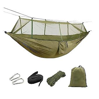 Outdoor Mosquito Hammock Fabric Anti-mosquito Cloth Camping Hammock Hanging Bed For Travel Camping With Mosquito Net For Outdoor (random Style)