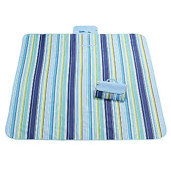 Blue and dark blue 145x180cm outdoor moisture-proof waterproof oxford cloth picnic blanket mat striped park blanket necessary for picnic homi2809