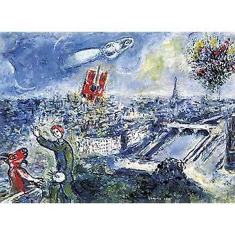 Eurographics View of Paris, Marc Chagall Jigsaw Puzzle (1000 Pieces)