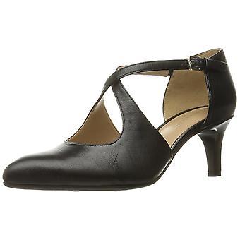 Naturalizer Womens Okira läder spetsiga tå ankel Strap klassiska pumpar
