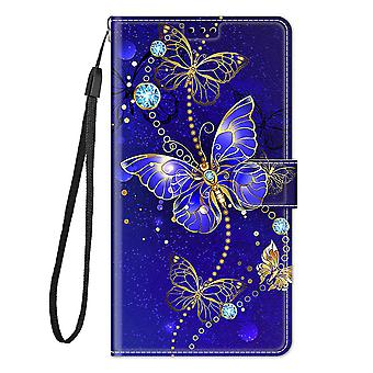 Cover Samsung Galaxy A32 4g Case Flip Pattern Magnetic  - Blue Butterfly