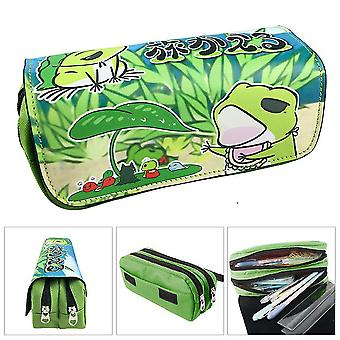 Travel frog children double-layer pencil case large capacity(Color-5)