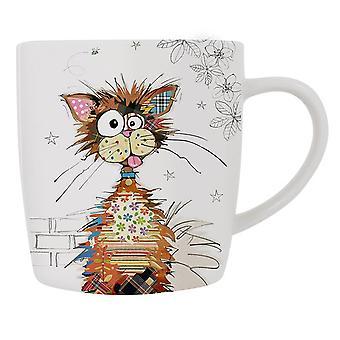 Patchwork Cat Fine China Mug - Boxed Gift