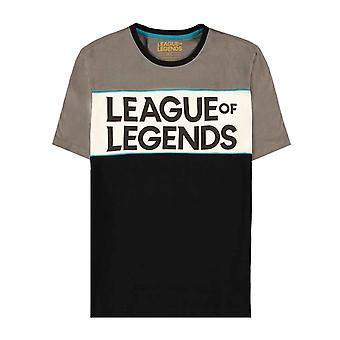 League Of Legends T Shirt Cut and Sew Logo new Official Mens Grey
