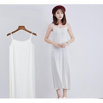 kvinners lang under kjole, camisoles slips indre petticoat