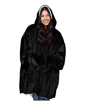 Ladies Thickened Double-sided Lazy Clothes(Black)